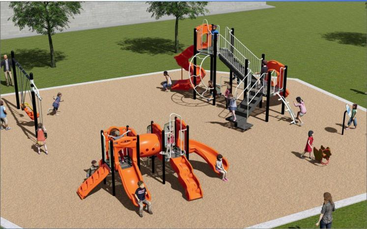 New Playground Equipment for Memorial Park
